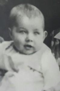 Elmar Gruber als Baby