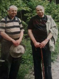Mit seinem Bruder Gerhard (links im Bild)